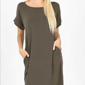 Stretchy Plus Size Stretchy T Shirt Dress